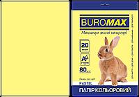 Бумага цветная PASTEL желтая 20 л А4 80 г/м²