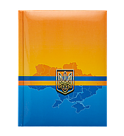 /Записная книжка UKRAINE А5 80 л клетка твердая обложка гл ламинация с поролоном синяя
