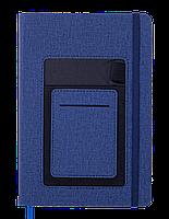 Блокнот деловой COMFORT А5 96 л нелинов синий исккожа