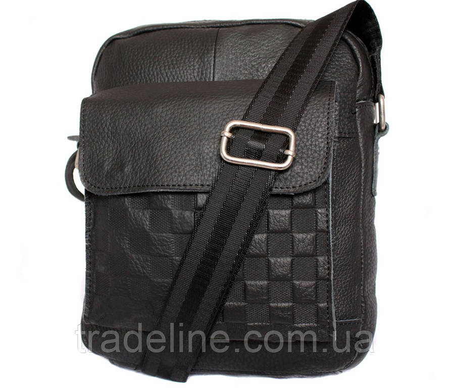 Мужская кожаная сумка Dovhani ABL30281746 Черная 28 x 22 x 9 см.