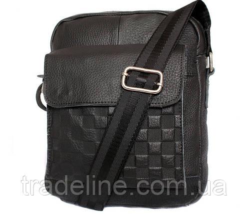 Мужская кожаная сумка Dovhani ABL30281746 Черная 28 x 22 x 9 см., фото 2