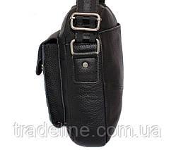 Мужская кожаная сумка Dovhani ABL30281746 Черная 28 x 22 x 9 см., фото 3