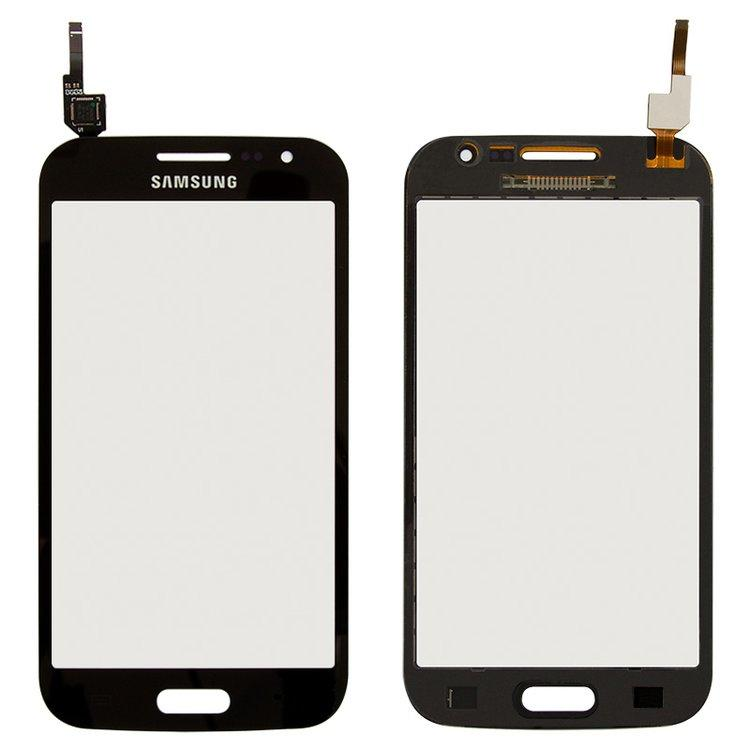 Сенсор (тачскрін) для Samsung I8550 Galaxy Win, I8552 Galaxy Win сірий Оригінал