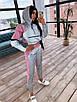 Спортивний костюм жіночий з світловідбиваючої тканини з укороченим худі р. 42 і 44 66rt1056Е, фото 4