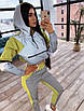 Спортивний костюм жіночий з світловідбиваючої тканини з укороченим худі р. 42 і 44 66rt1056Е, фото 5