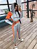 Спортивний костюм жіночий з світловідбиваючої тканини з укороченим худі р. 42 і 44 66rt1056Е, фото 6