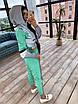 Спортивний костюм жіночий з світловідбиваючої тканини з укороченим худі р. 42 і 44 66rt1056Е, фото 8