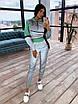 Спортивний костюм жіночий з світловідбиваючої тканини з укороченим худі р. 42 і 44 66rt1056Е, фото 10