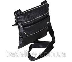 Мужская кожаная сумка Dovhani A302BL827 Черная, фото 3