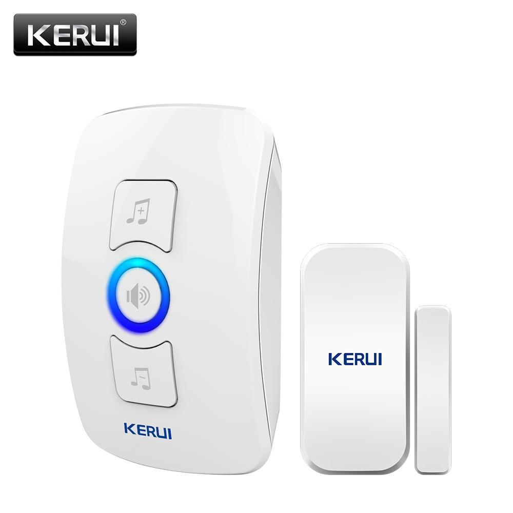 KERUI M525 білий дверної датчик бездротовий дверна сигналізація 433МГц 32 мелодії з сигналізацією