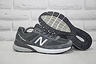 Серые мужские кроссовки текстиль и натуральный замш в стиле New Balance 990, фото 1