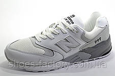 Мужские белые кроссовки в стиле New Balance 999, White\Gray, фото 2