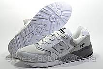 Мужские белые кроссовки в стиле New Balance 999, White\Gray, фото 3