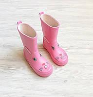 Детские резиновые сапоги 25-30 для девочки