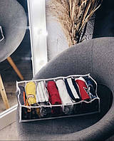 Прозрачный органайзер для футболок, боди, регланов 39х25х9 см L (Белый)
