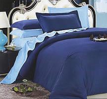 Однотонное, практичное постельное белье сатин евро комплект