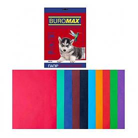 Набор цветной бумаги для печати 80г / м2, BUROMAX, DARK + INTENSIVE