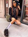 Женское теплое плать-худи с капюшоном (р. 42-46) к5plt1581, фото 4