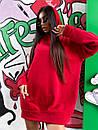Женское теплое плать-худи с капюшоном (р. 42-46) к5plt1581, фото 6