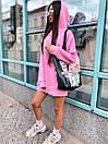 Женское теплое плать-худи с капюшоном (р. 42-46) к5plt1581, фото 7