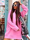 Женское теплое плать-худи с капюшоном (р. 42-46) к5plt1581, фото 10