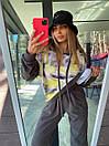 Женский повседневный костюм с свитшотом Ovetksjusze и ярким принтом (р. 40-54) 18kos133, фото 6