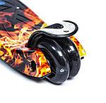 Детский самокат MAXI Fire and Ice Светящиеся черные колеса, фото 4