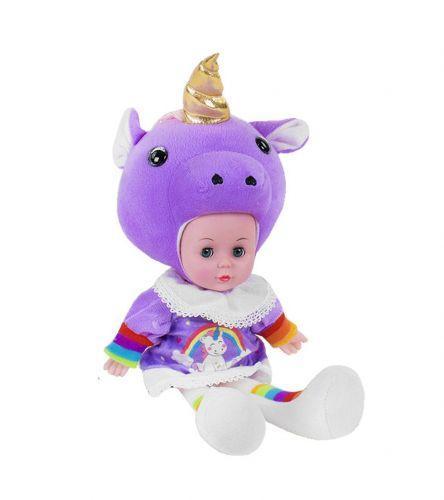 "Мягкая кукла ""Lovely Doll: Единорожек"" фиолетовый с золотистым рогом CY5002S/1S/4S"