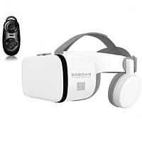 Очки виртуальной реальности BOBO VR Z6 Bluetooth с беспроводными наушниками пульт в подарок Белые