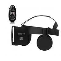 Очки виртуальной реальности BOBO VR Z6 Bluetooth с беспроводными наушниками пульт в подарок Черные