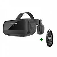 Очки виртуальной реальности BOBO VR Z5 Bluetooth с проводными наушниками пульт в подарок Черные