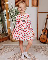 Детское платье для девочки Paty Kids горох красный 41303