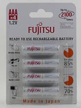 Аккумуляторы Fujitsu AAA 800 mAh, HR-4UTC, 2100 циклов (упаковка: блистер)