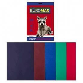 Набор цветной бумаги для печати 80г / м2, BUROMAX, DARK