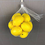 Лимон искусственный 1:1 10 см, фото 2