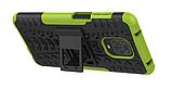 Противоударный чехол Протектор Armored для Xiaomi Redmi Note 9s / Redmi Note 9 Pro с подставкой Цвет салатовый, фото 3