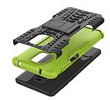 Противоударный чехол Протектор Armored для Xiaomi Redmi Note 9s / Redmi Note 9 Pro с подставкой Цвет салатовый, фото 6