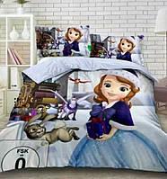 Дитяче постільна білизна полуторна Принцеса Софія, 3D малюнок, 100% бавовна