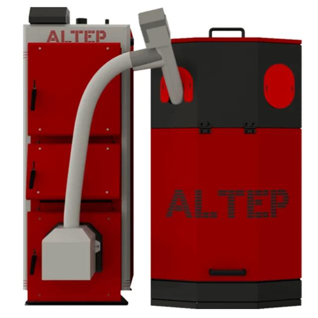 Пелетний комплект котел з бункером автоматичною подачею ALtep Duo Uni Pellet потужністю 33 кВт