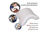 Ортопедическая подушка Туннель Memory Foam Pillow, подушка с памятью туннель, фото 4