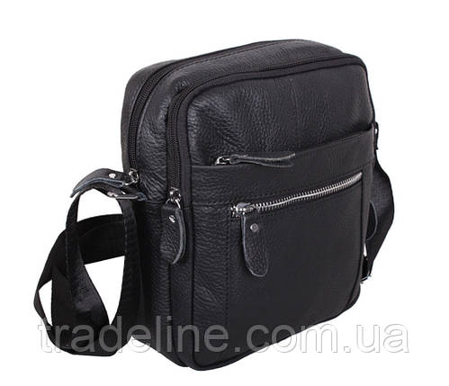 Мужская кожаная сумка Dovhani ADov-3922-45 Ш19 х В21 х Г7,5-8,5см Черная, фото 2