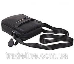 Мужская кожаная сумка Dovhani ADov-3922-45 Ш19 х В21 х Г7,5-8,5см Черная, фото 3