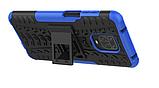 Противоударный чехол Протектор Armored для Xiaomi Redmi Note 9s / Redmi Note 9 Pro с подставкой Цвет Синий, фото 2