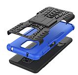 Противоударный чехол Протектор Armored для Xiaomi Redmi Note 9s / Redmi Note 9 Pro с подставкой Цвет Синий, фото 4