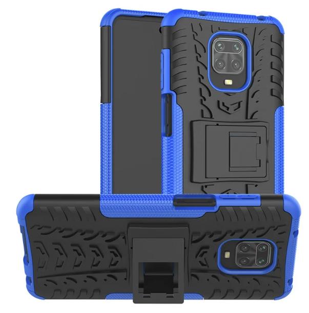 Противоударный чехол Протектор Armored для Xiaomi Redmi Note 9s / Redmi Note 9 Pro с подставкой Цвет Синий