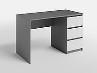 Письменный стол СП-7 с 1 тумбой Антрацит/Белый