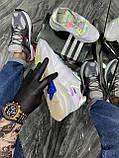 Мужские кроссовки Adidas Nite Jogger White Reflective рефлектив, кроссовки адидас найт джоггер, фото 7