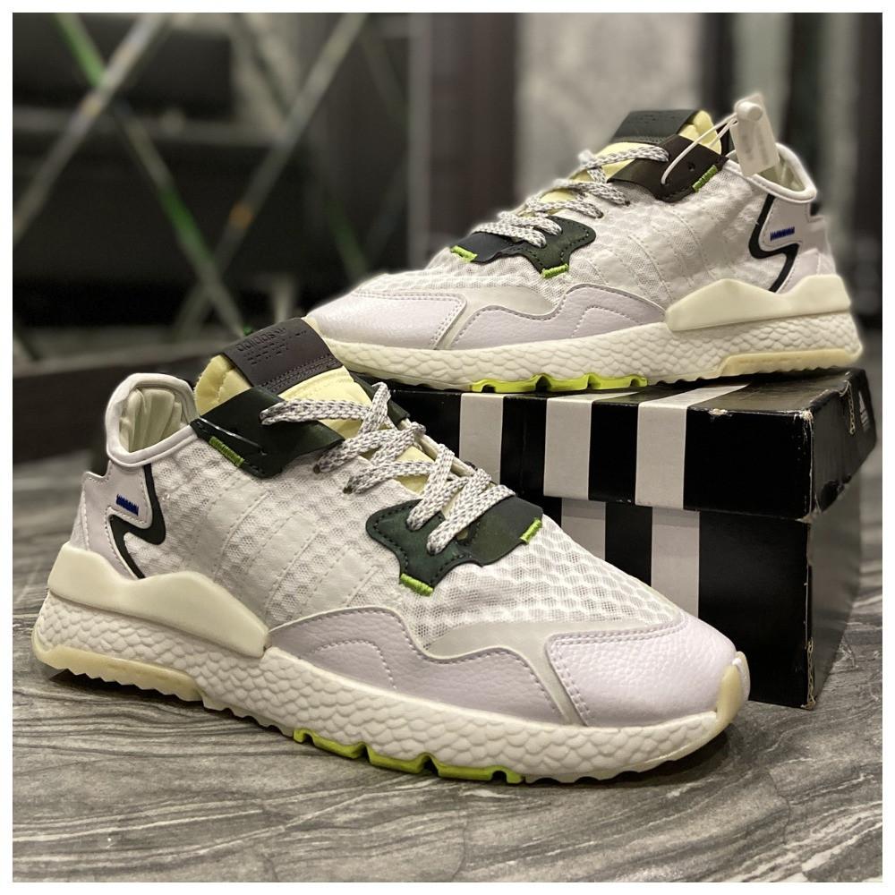 Мужские кроссовки Adidas Nite Jogger White Reflective рефлектив, кроссовки адидас найт джоггер