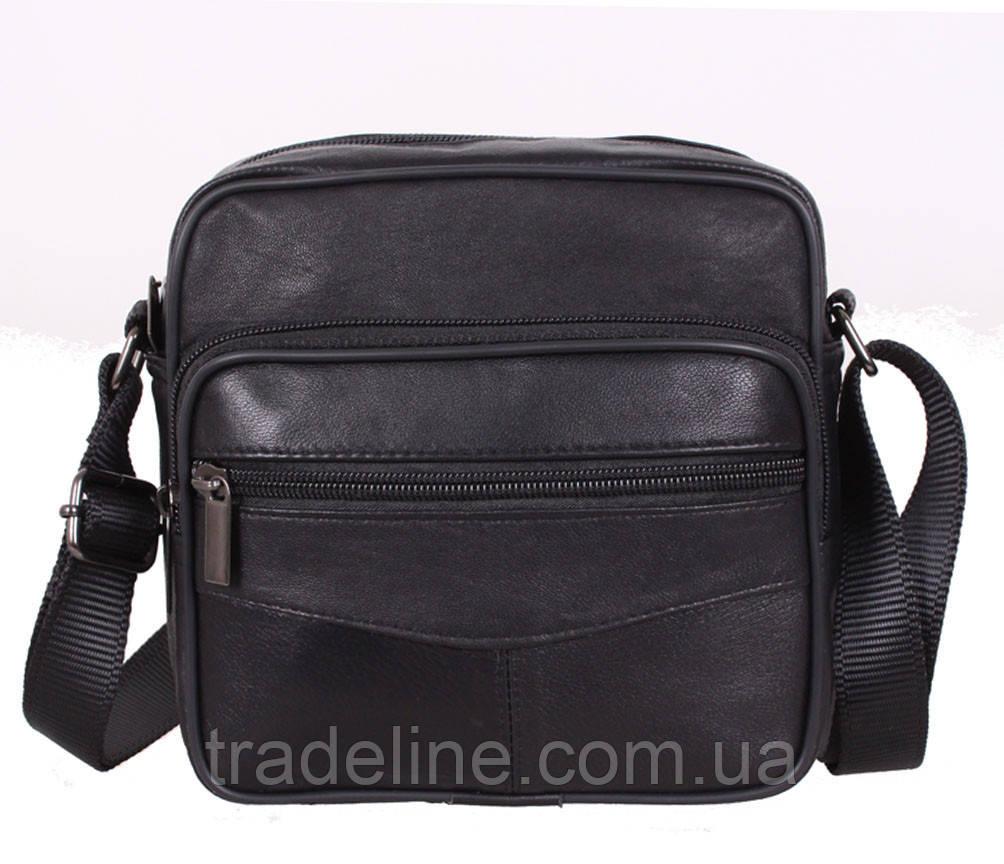 Мужская кожаная сумка Dovhani ASW1101866 Черная