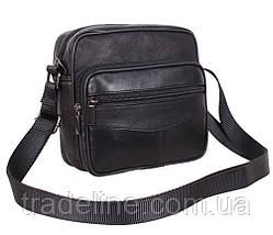 Мужская кожаная сумка Dovhani ASW1101866 Черная, фото 2